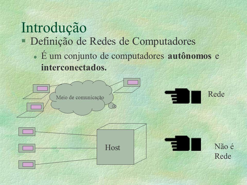 Introdução Definição de Redes de Computadores