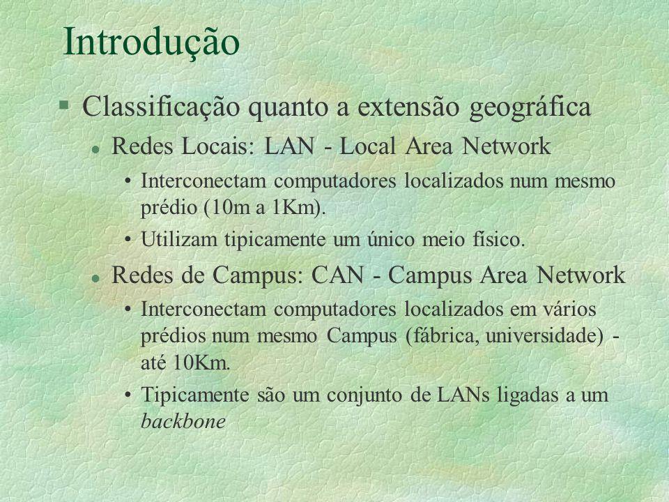 Introdução Classificação quanto a extensão geográfica