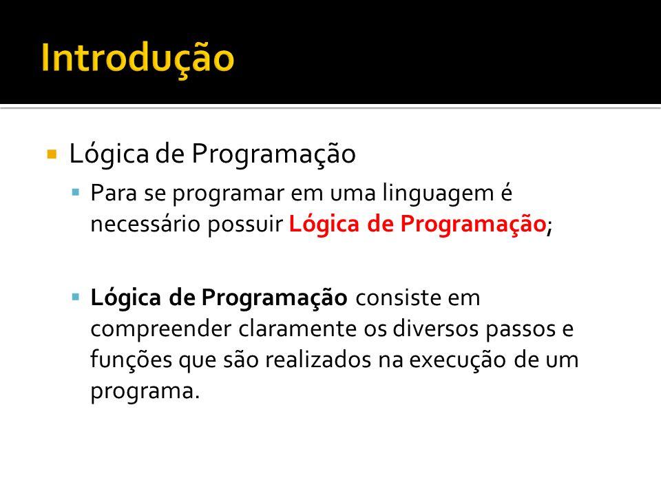Introdução Lógica de Programação