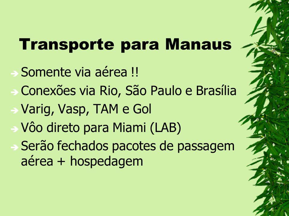 Transporte para Manaus