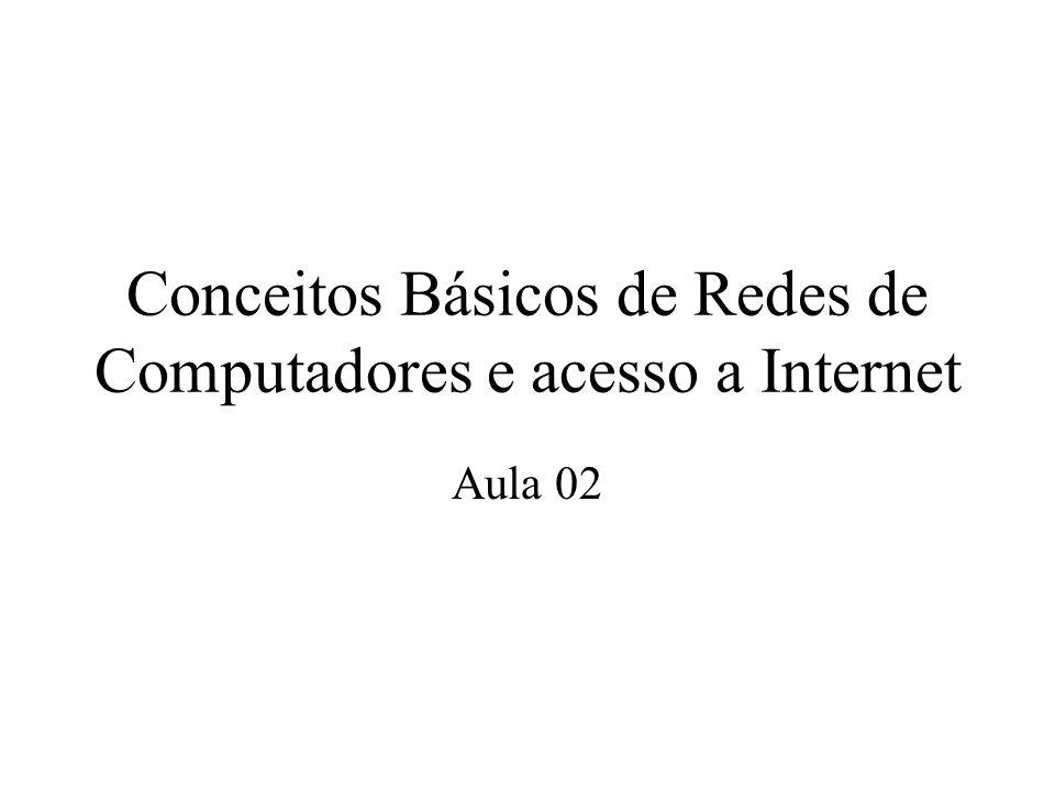 Conceitos Básicos de Redes de Computadores e acesso a Internet