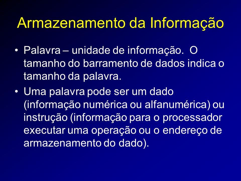 Armazenamento da Informação