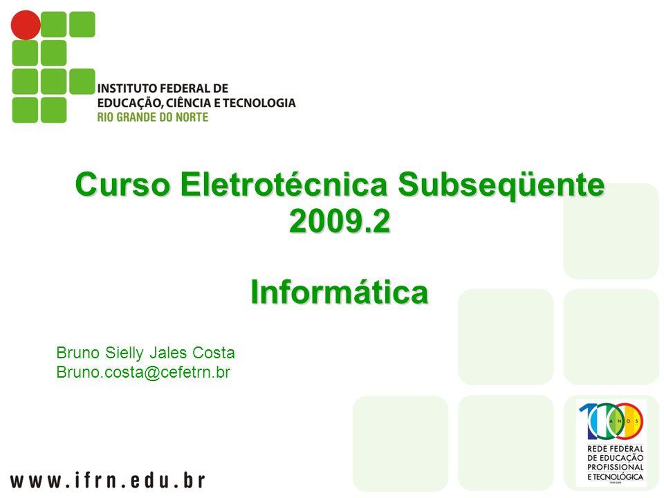Curso Eletrotécnica Subseqüente 2009.2