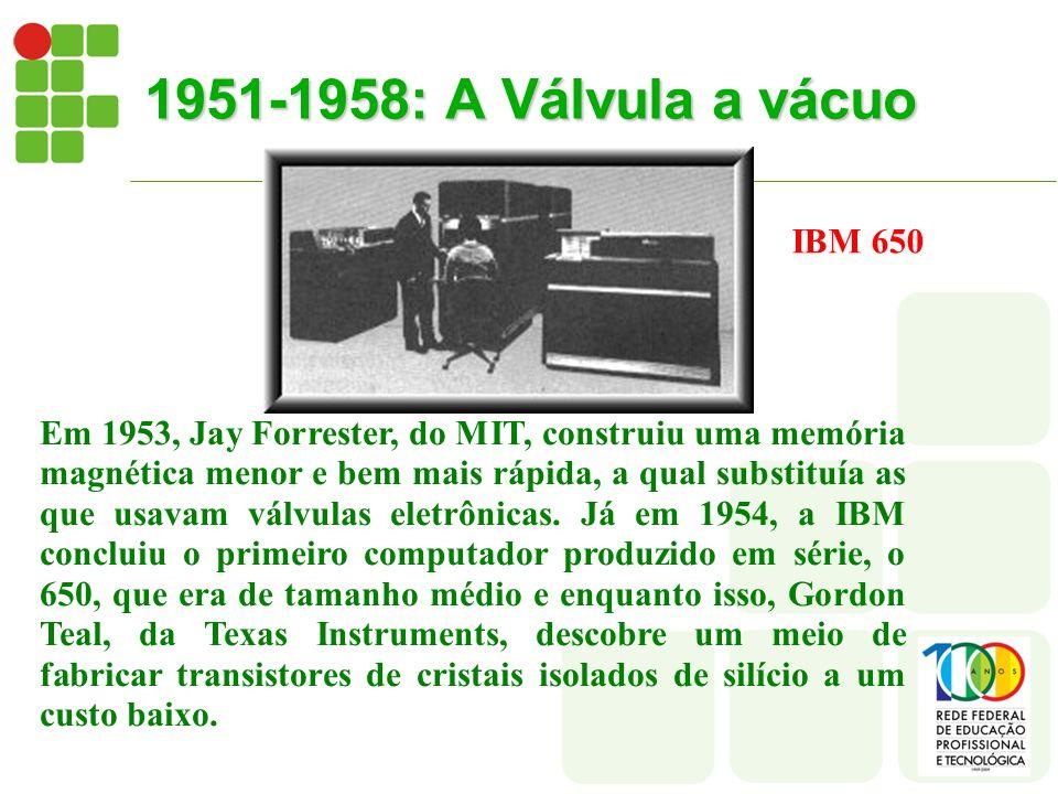 1951-1958: A Válvula a vácuo IBM 650.