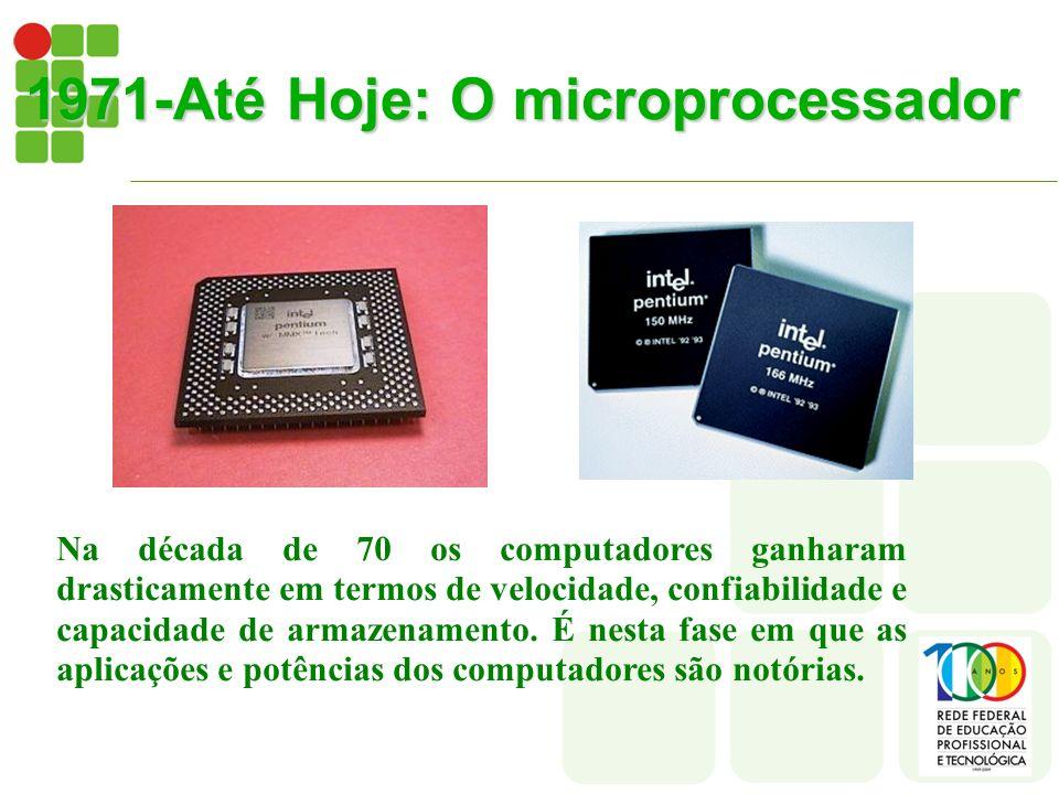 1971-Até Hoje: O microprocessador