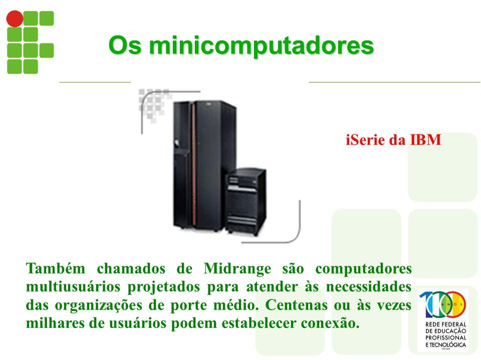 Os minicomputadores iSerie da IBM