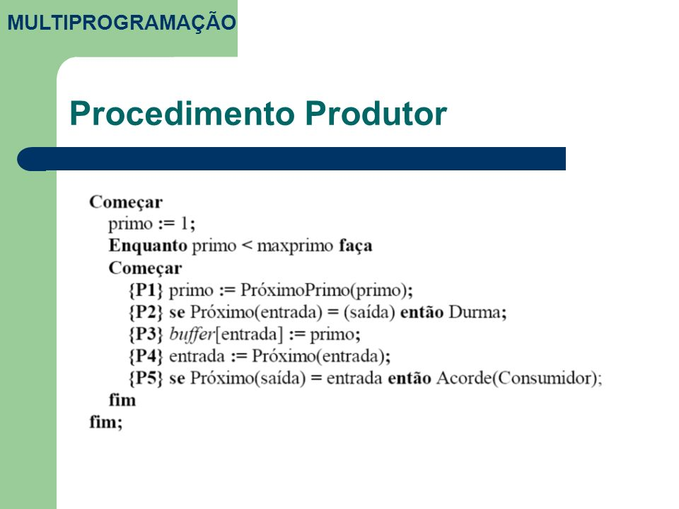 Procedimento Produtor