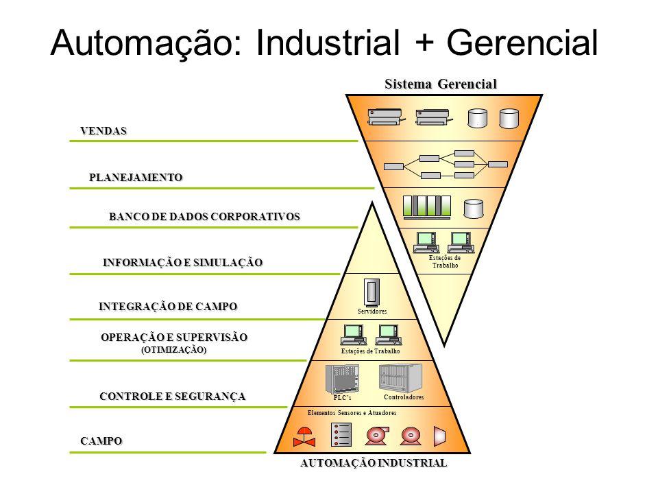 Automação: Industrial + Gerencial