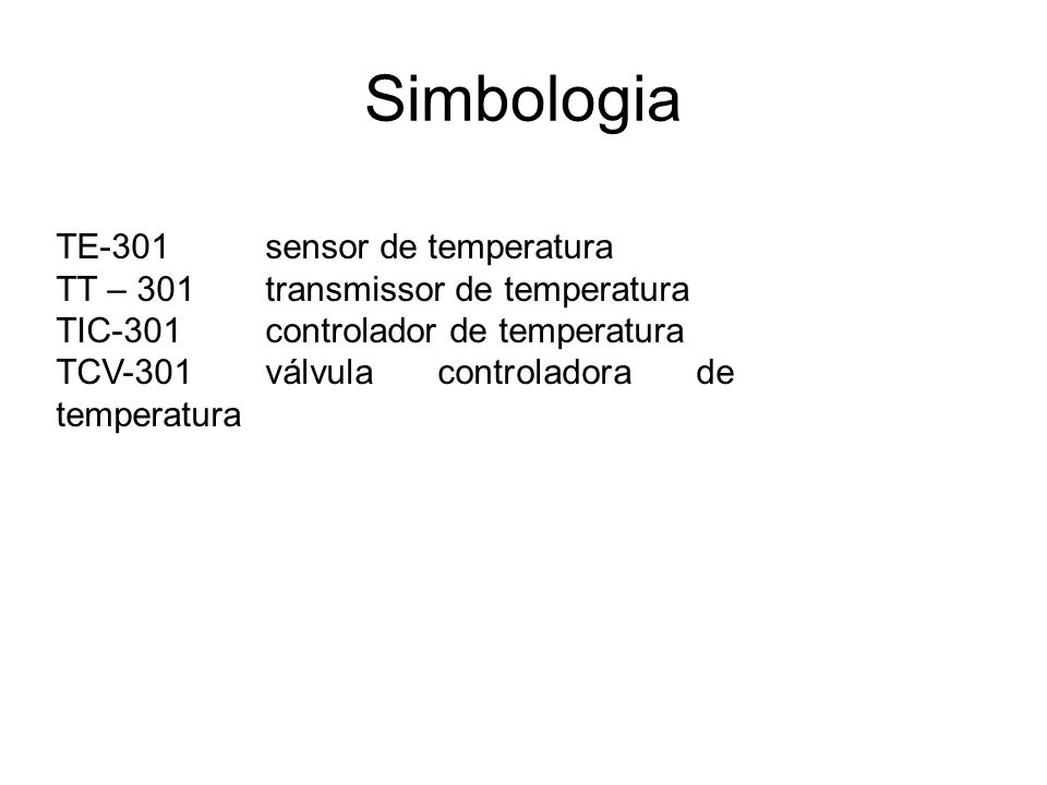 Simbologia TE-301 sensor de temperatura