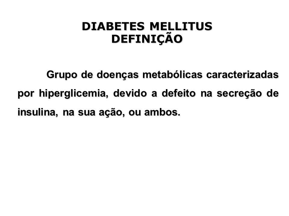 DIABETES MELLITUS DEFINIÇÃO