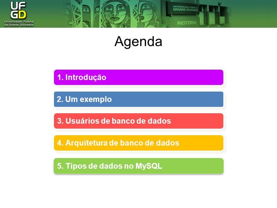 Agenda 1. Introdução 2. Um exemplo 3. Usuários de banco de dados