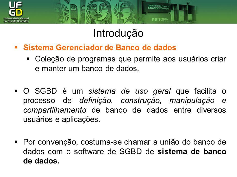 Introdução Sistema Gerenciador de Banco de dados