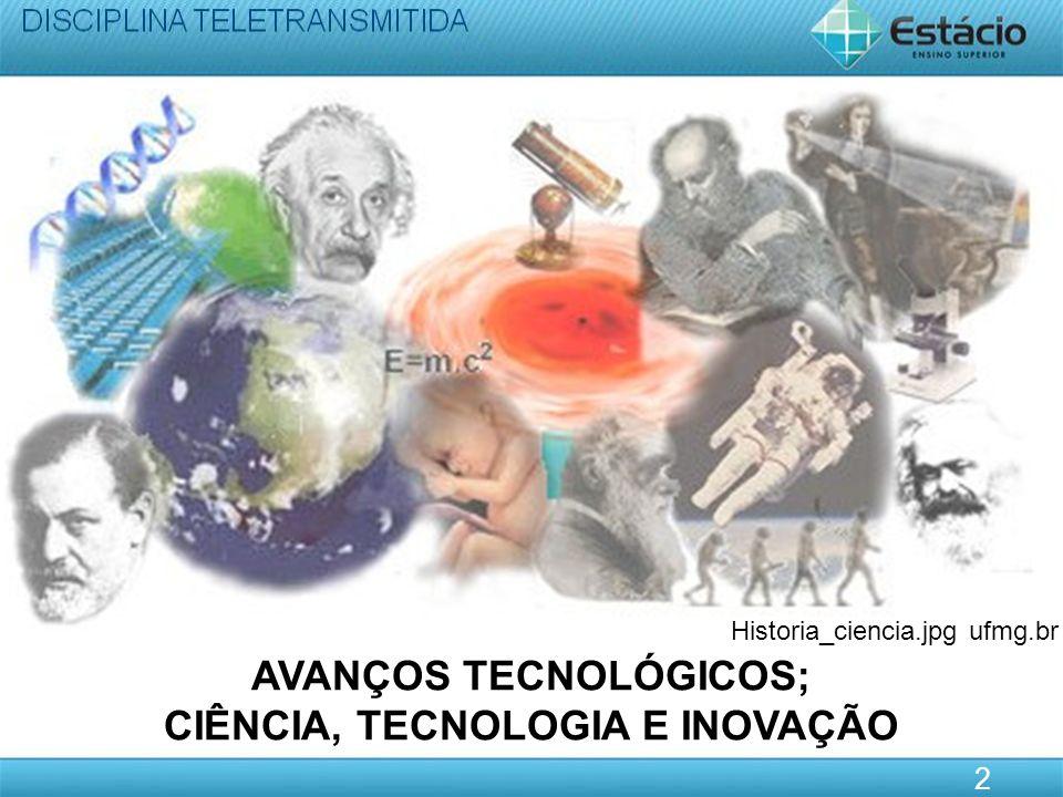 AVANÇOS TECNOLÓGICOS; CIÊNCIA, TECNOLOGIA E INOVAÇÃO
