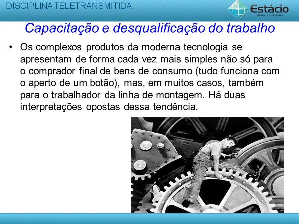 Capacitação e desqualificação do trabalho