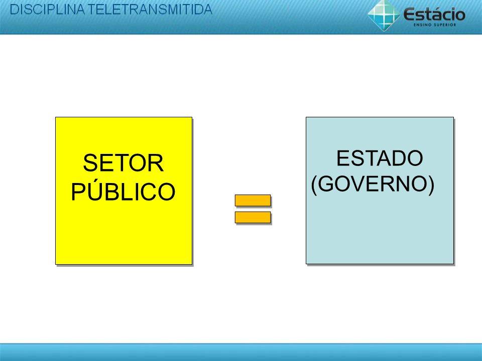 SETOR PÚBLICO ESTADO (GOVERNO)