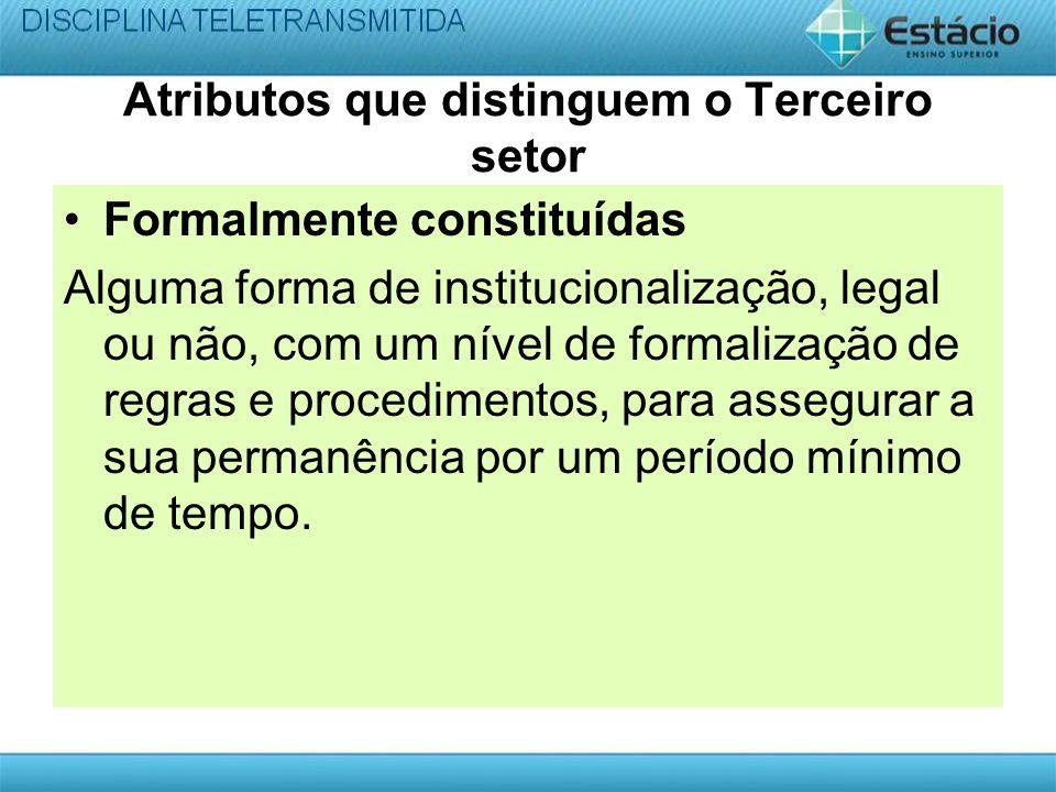 Atributos que distinguem o Terceiro setor