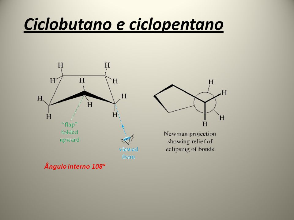 Ciclobutano e ciclopentano