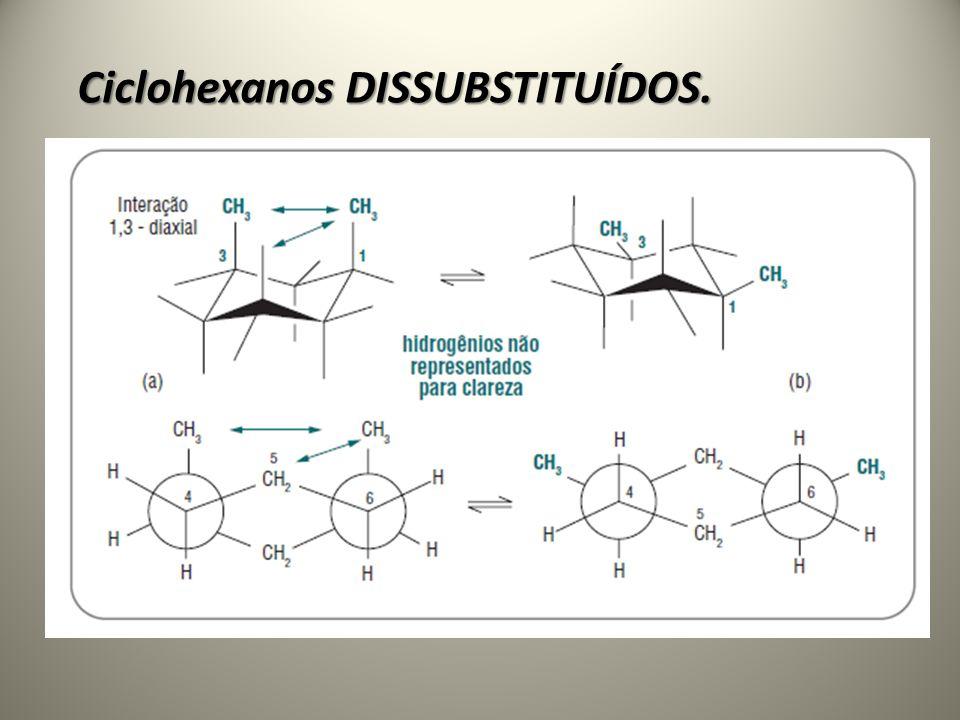 Ciclohexanos DISSUBSTITUÍDOS.