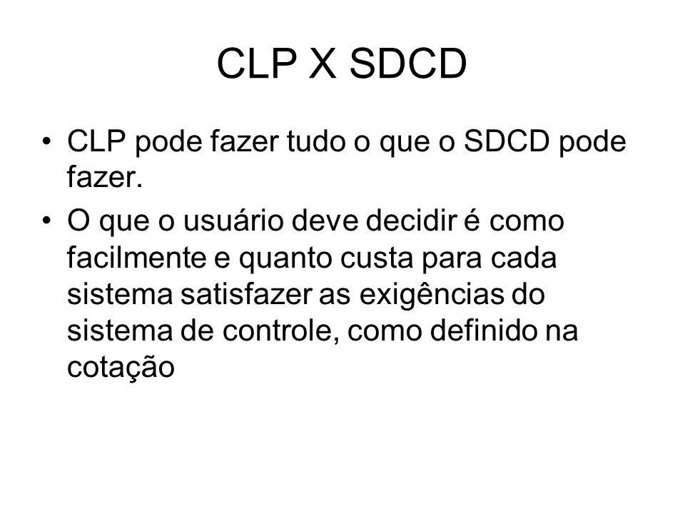 CLP X SDCD CLP pode fazer tudo o que o SDCD pode fazer.