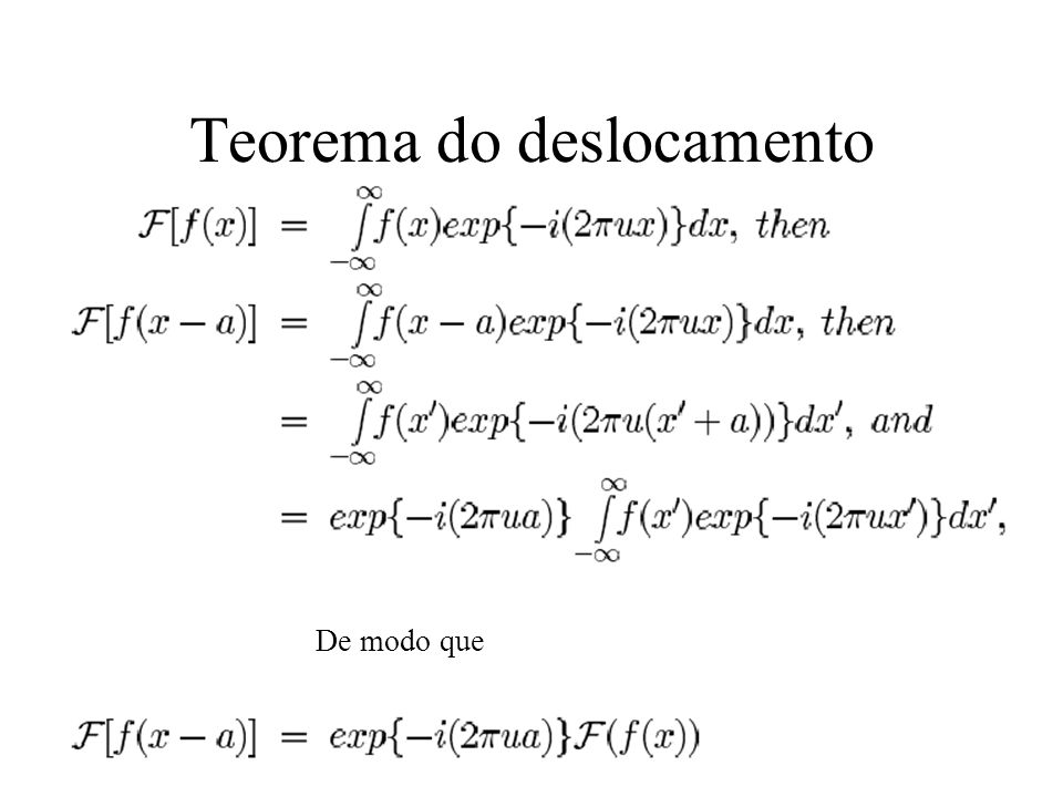 Teorema do deslocamento