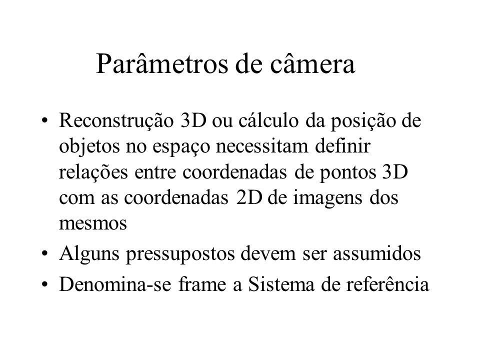 Parâmetros de câmera