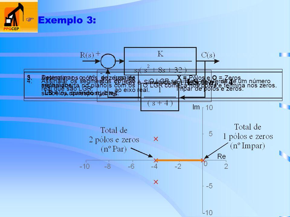 Exemplo 3: LS = nP = 4 Determinar o nº de lugares separados,