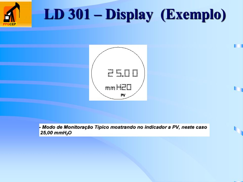 LD 301 – Display (Exemplo)