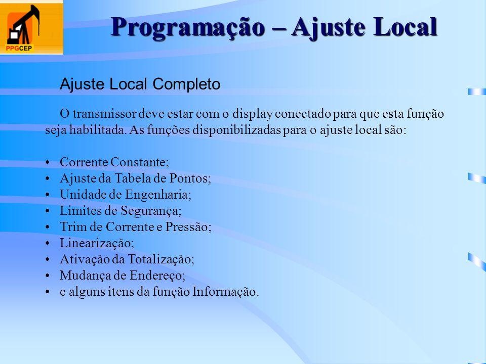 Programação – Ajuste Local