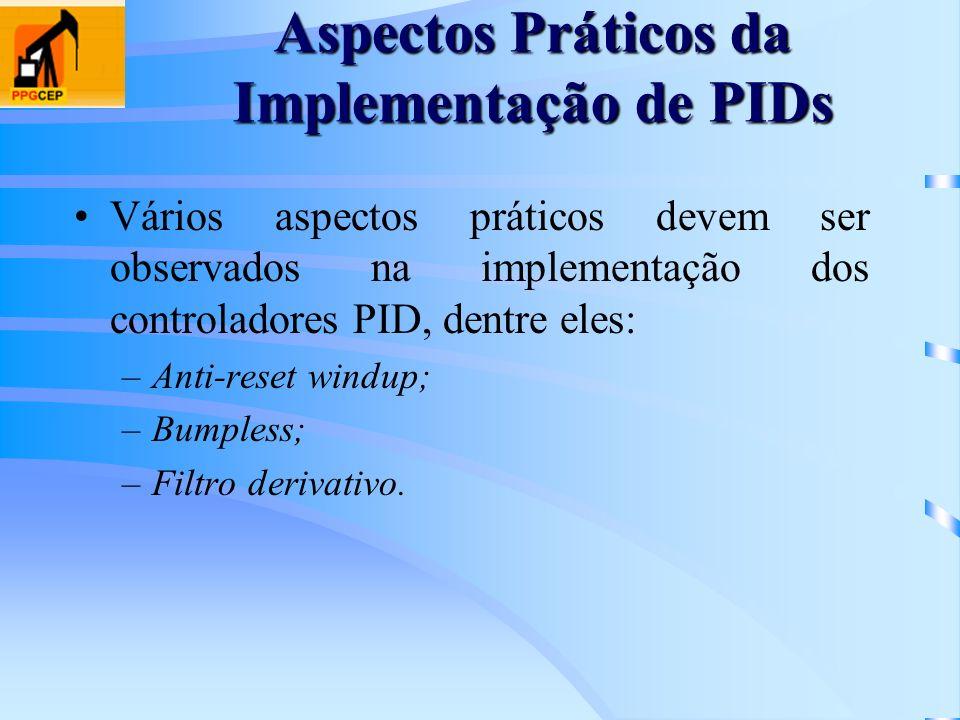Aspectos Práticos da Implementação de PIDs