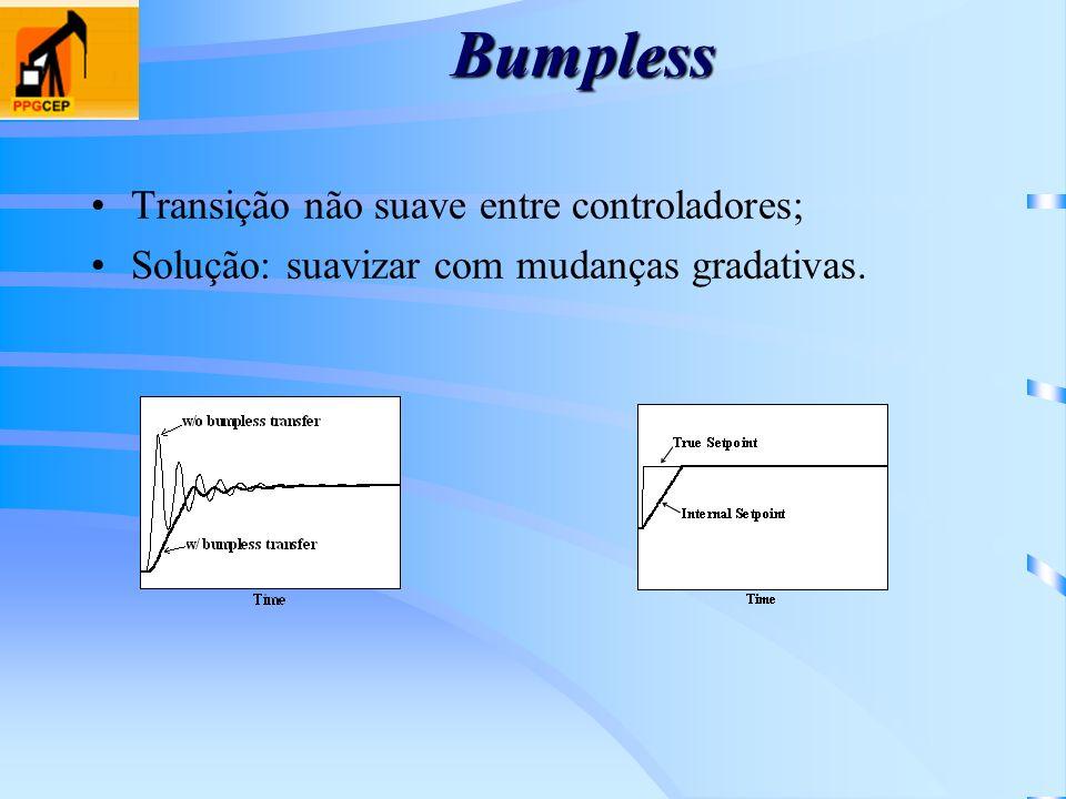 Bumpless Transição não suave entre controladores;