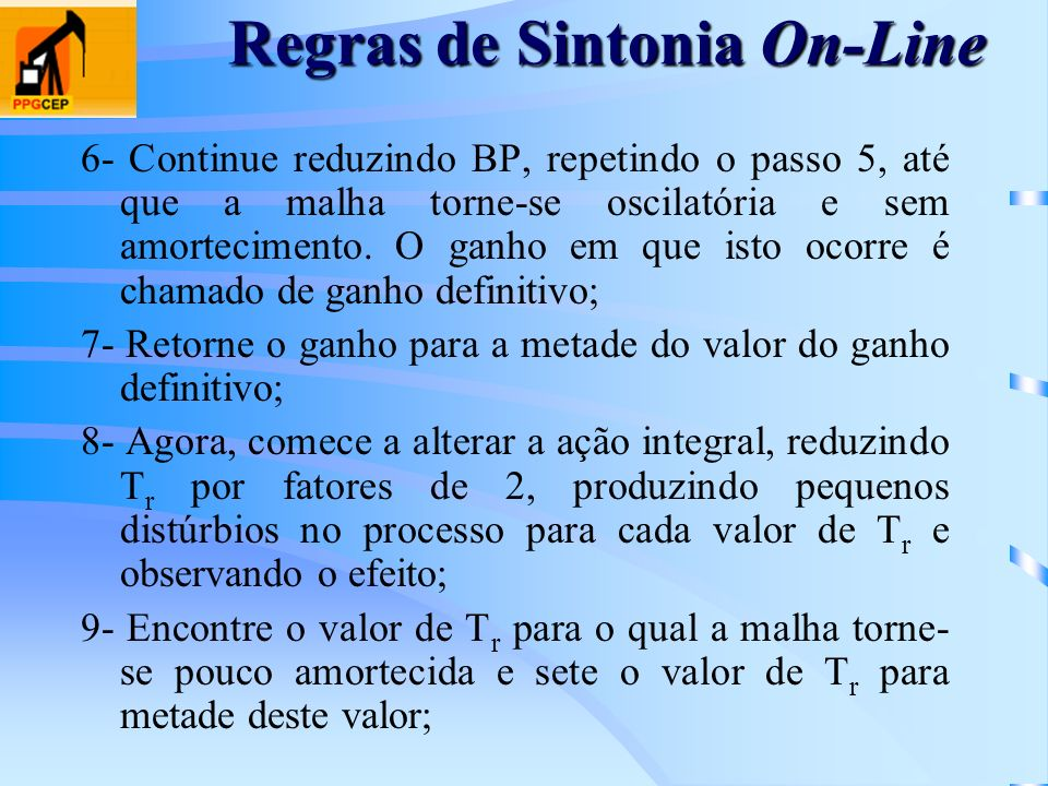 Regras de Sintonia On-Line