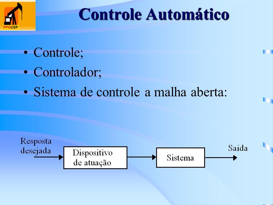 Controle Automático Controle; Controlador;