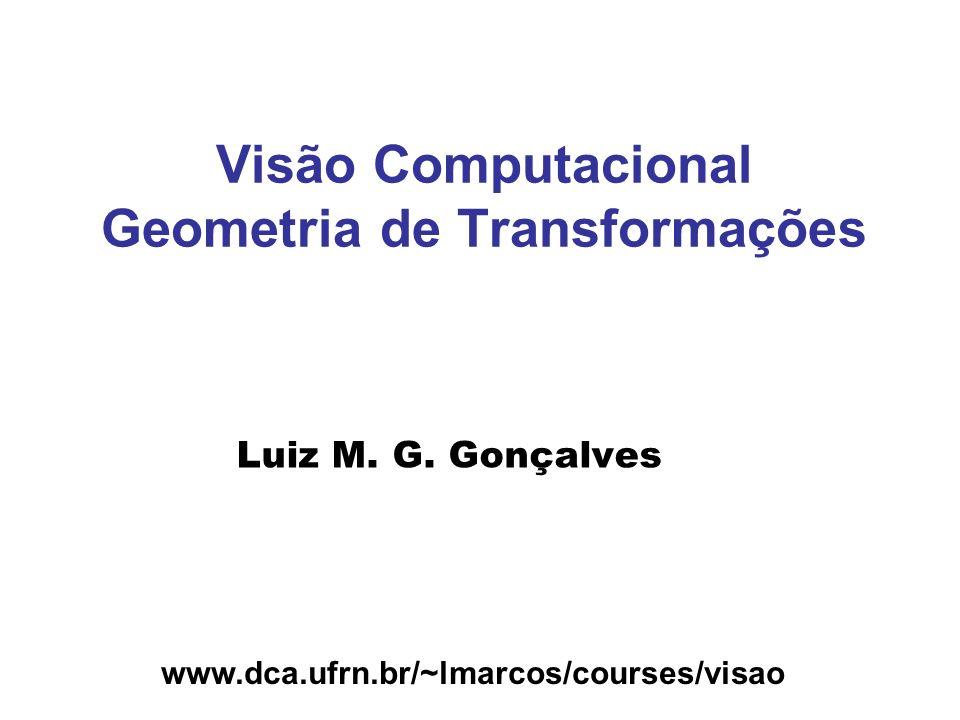 Visão Computacional Geometria de Transformações