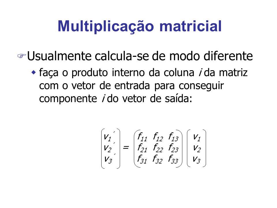 Multiplicação matricial