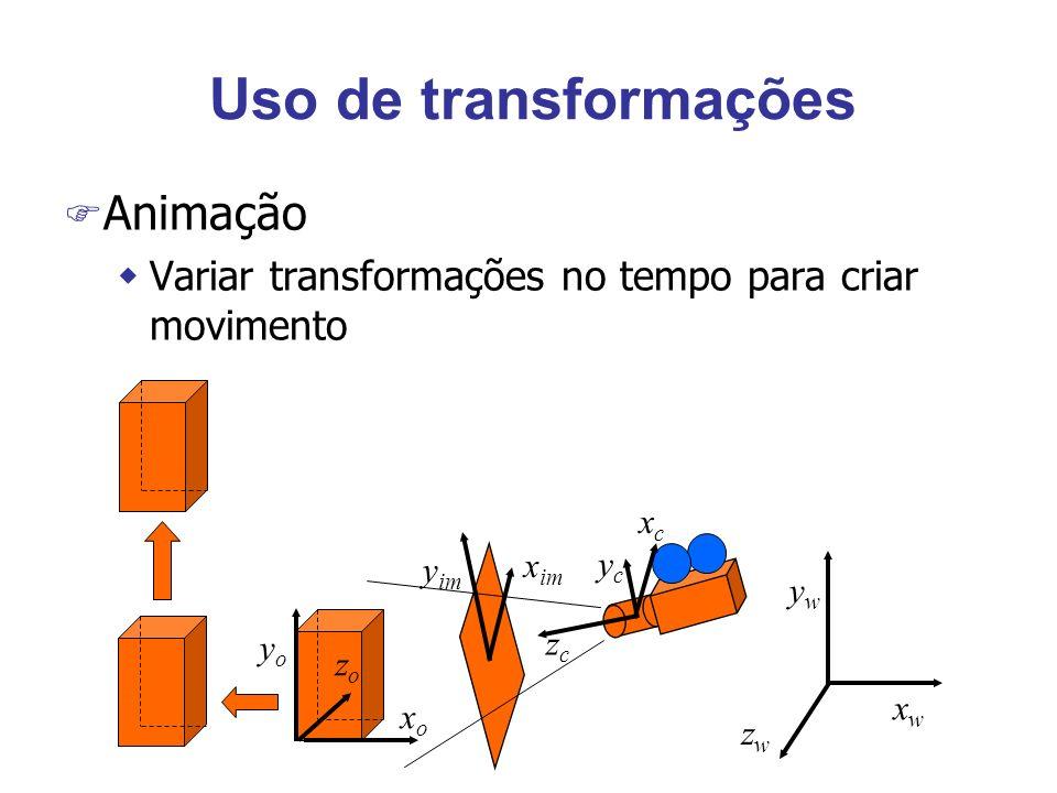 Uso de transformações Animação