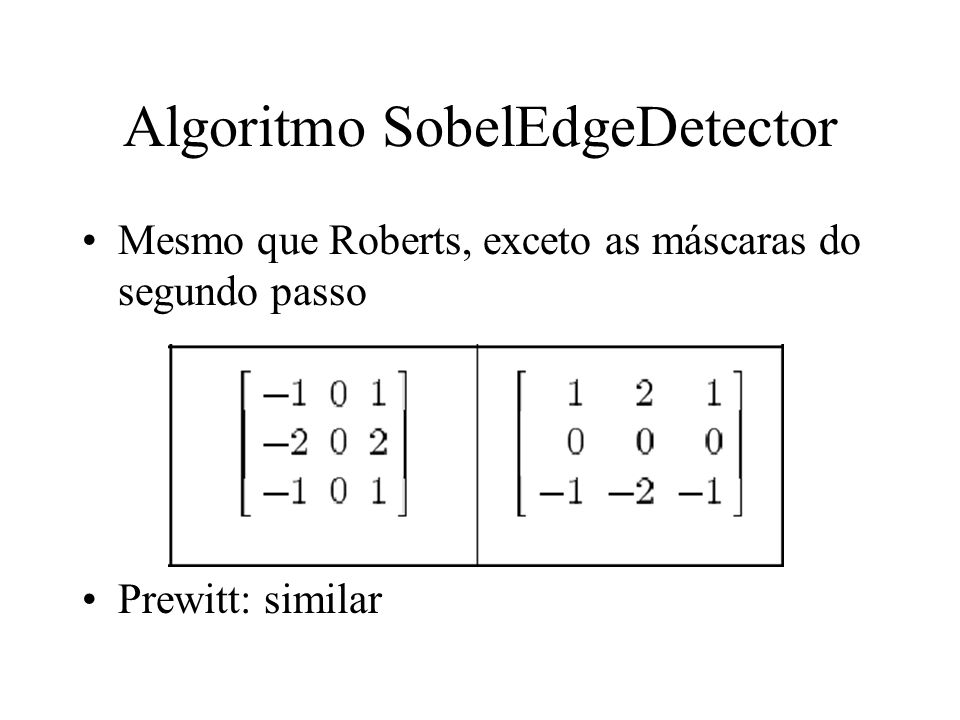 Algoritmo SobelEdgeDetector