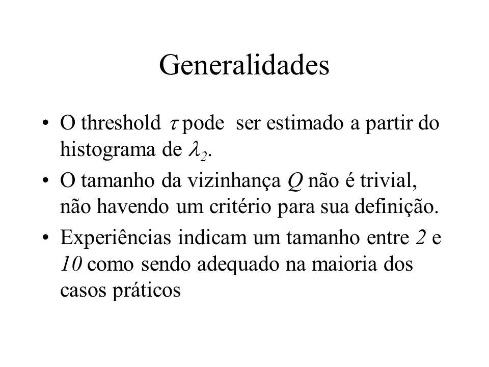 Generalidades O threshold  pode ser estimado a partir do histograma de 2.