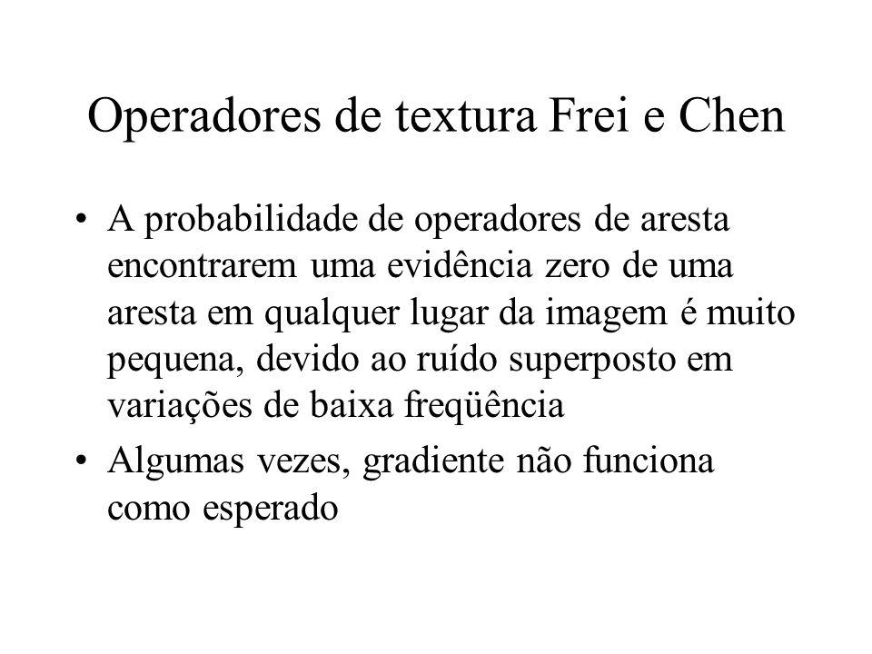 Operadores de textura Frei e Chen
