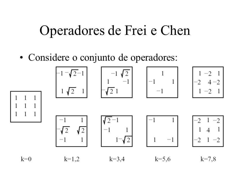 Operadores de Frei e Chen