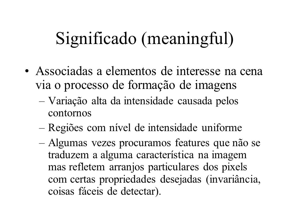 Significado (meaningful)