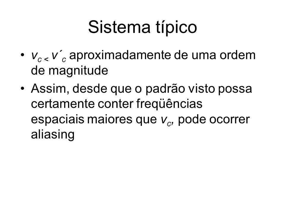 Sistema típico vc < v´c aproximadamente de uma ordem de magnitude