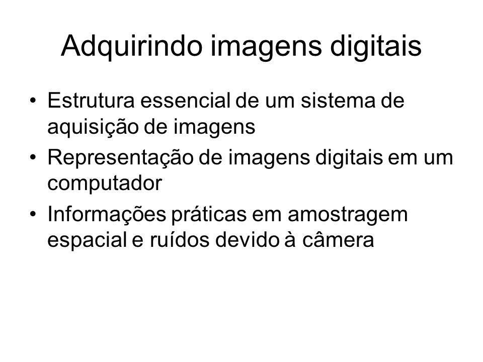 Adquirindo imagens digitais