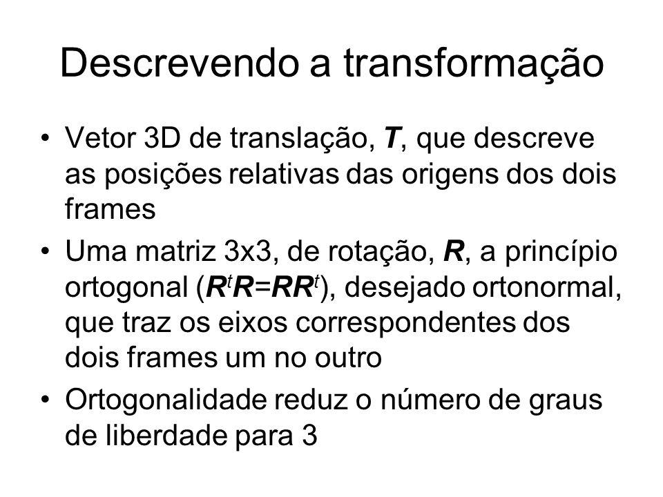 Descrevendo a transformação