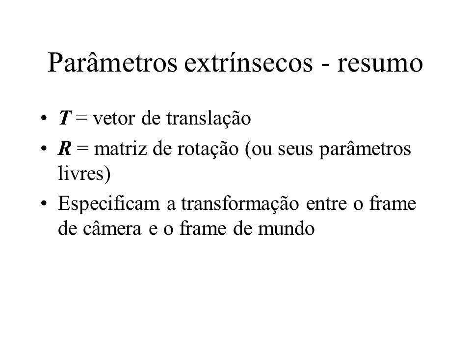 Parâmetros extrínsecos - resumo