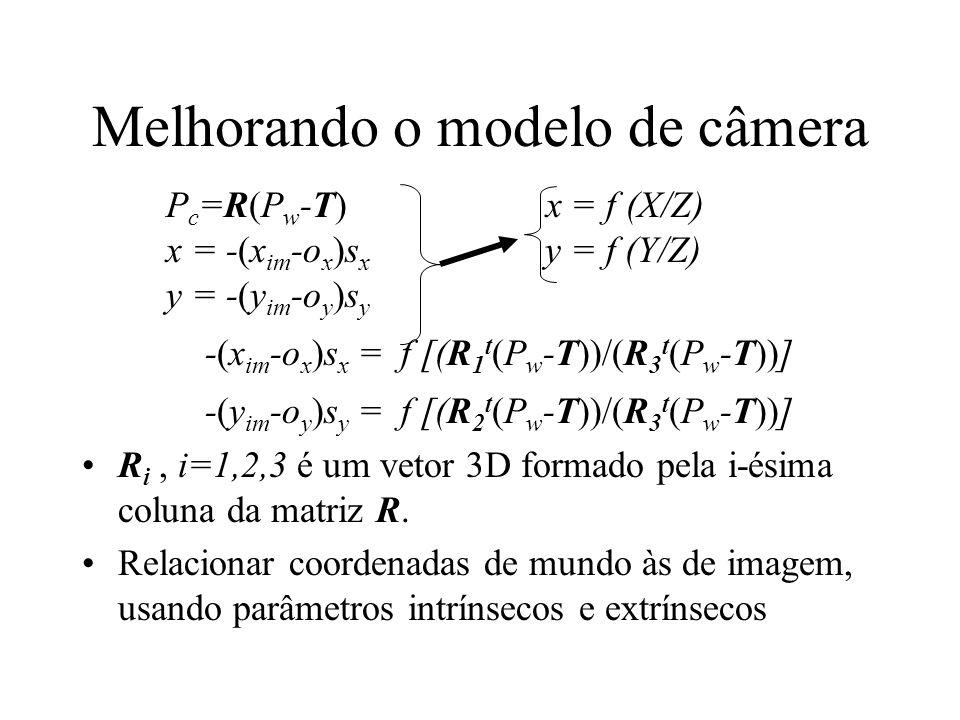Melhorando o modelo de câmera
