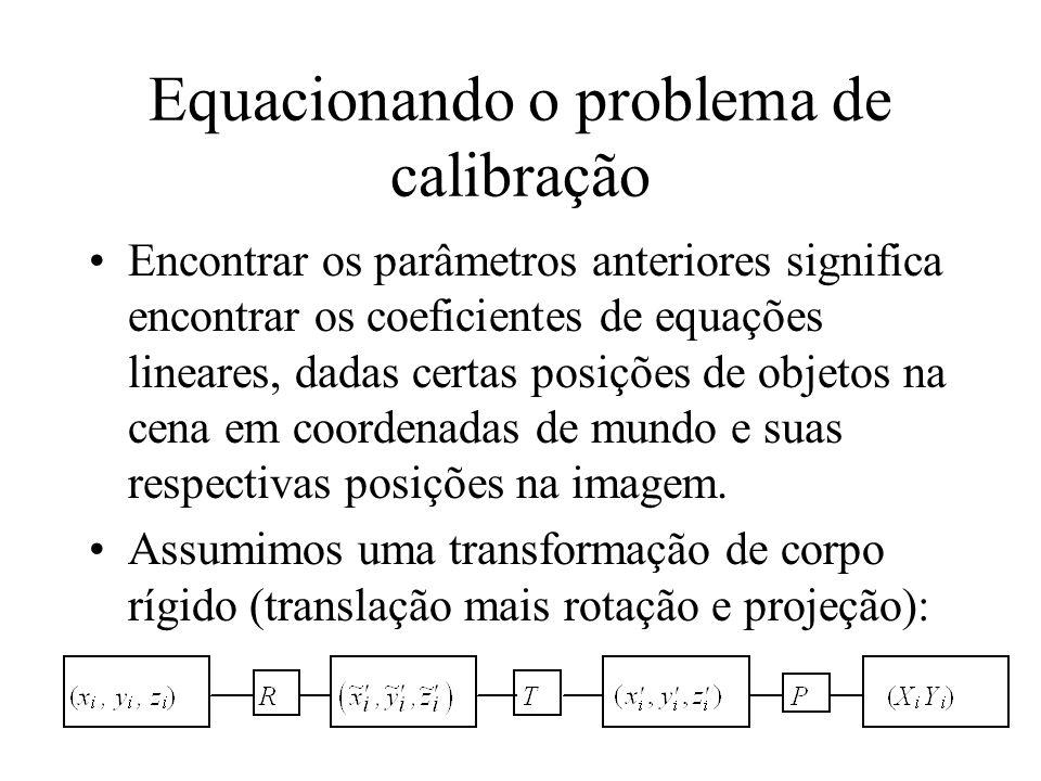 Equacionando o problema de calibração