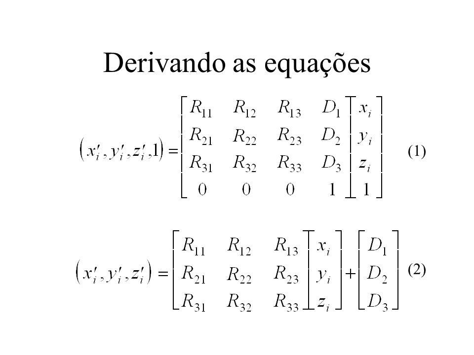 Derivando as equações (1) (2)
