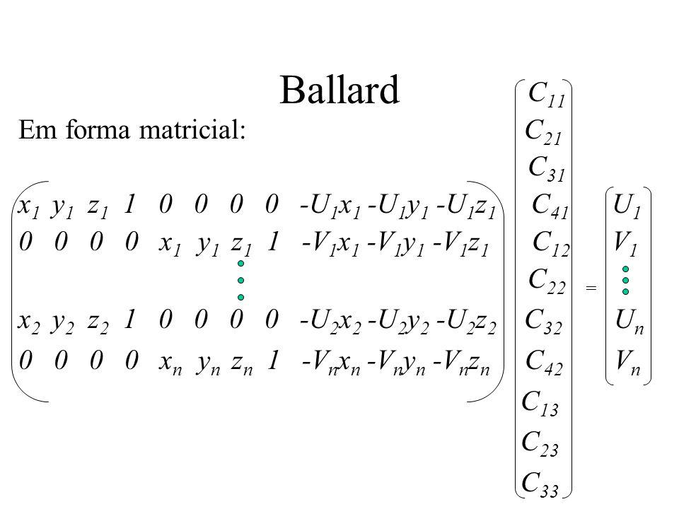 Ballard C11 Em forma matricial: C21 C31