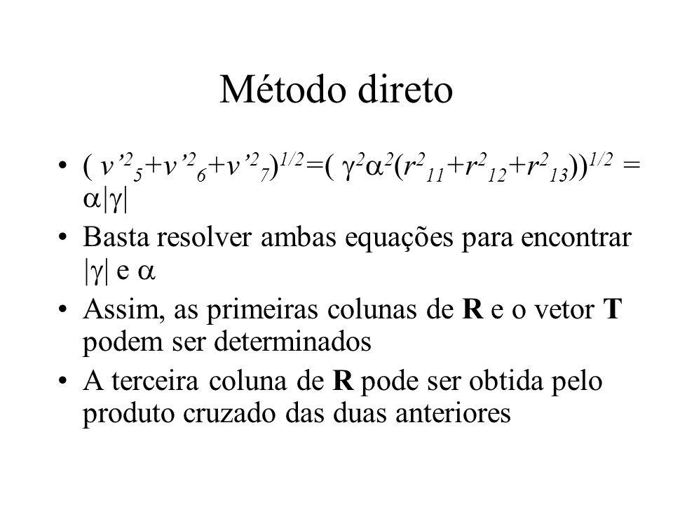 Método direto ( v'25+v'26+v'27)1/2=( 22(r211+r212+r213))1/2 = ||