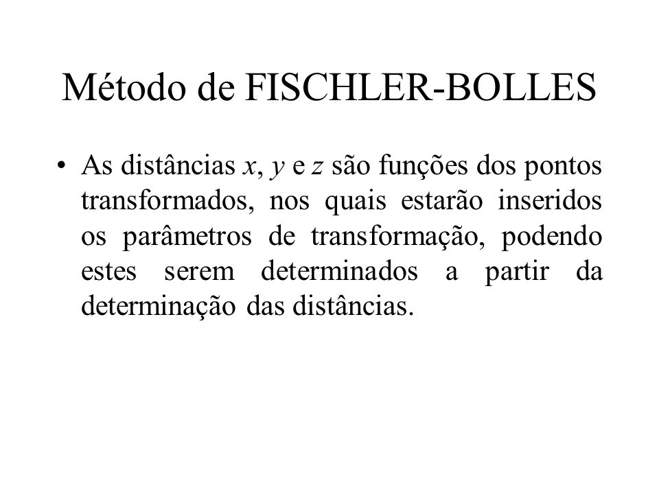 Método de FISCHLER-BOLLES